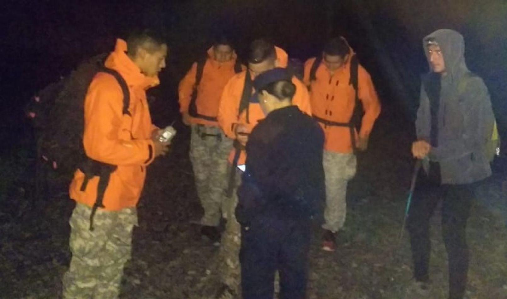 Rescate en cerro Pacuy