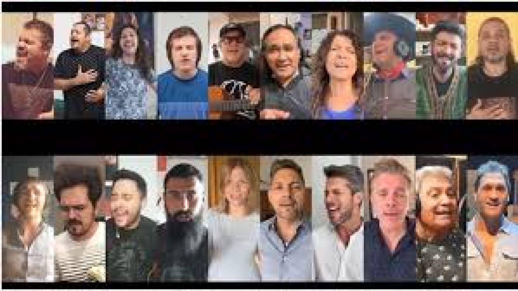 Artistas populares juntos contra el coronavirus