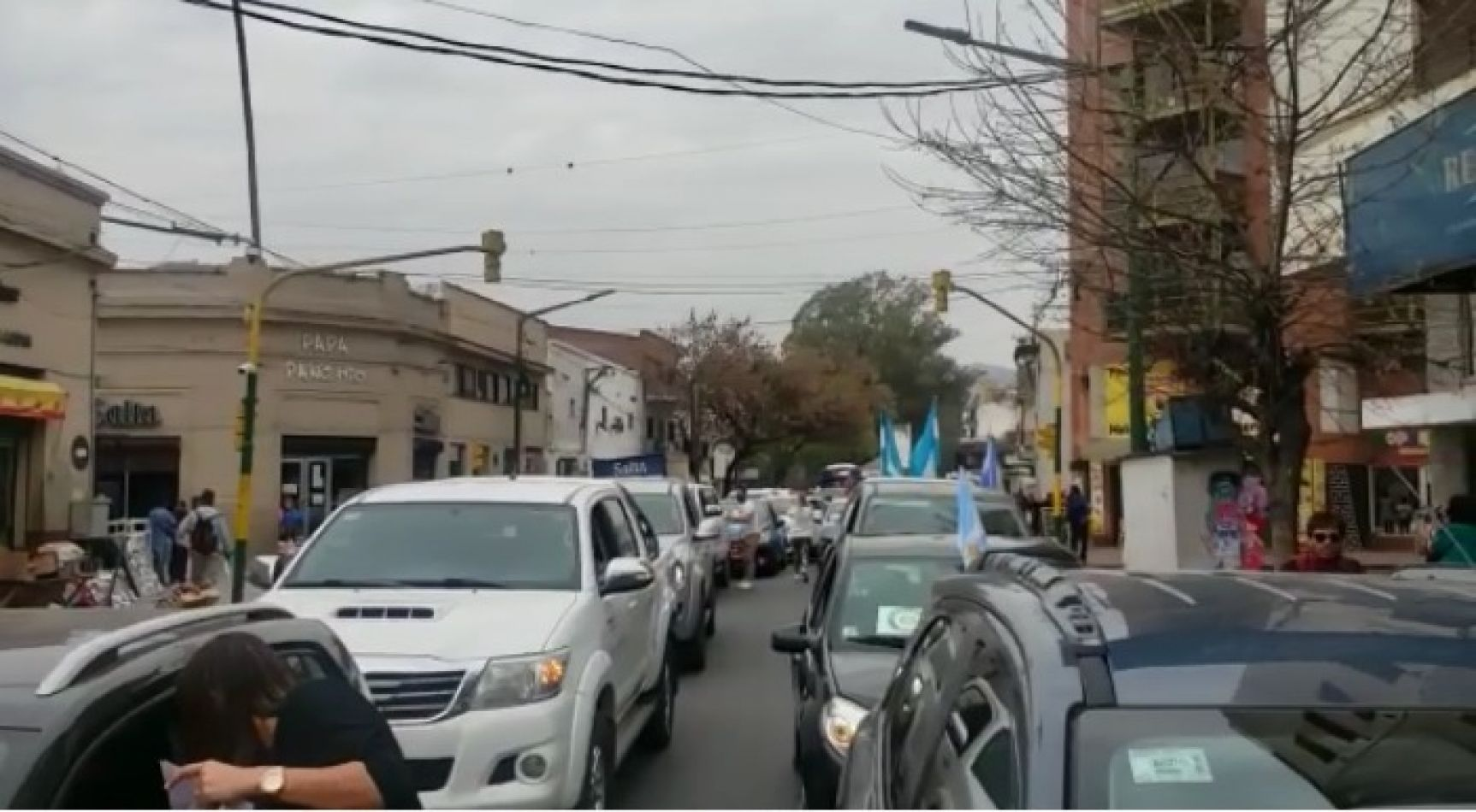 Protesta de comerciantes