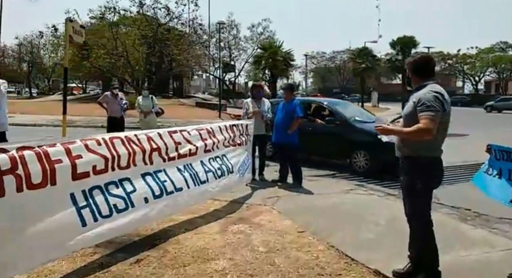 Protesta de médicos en el Grand Bourg