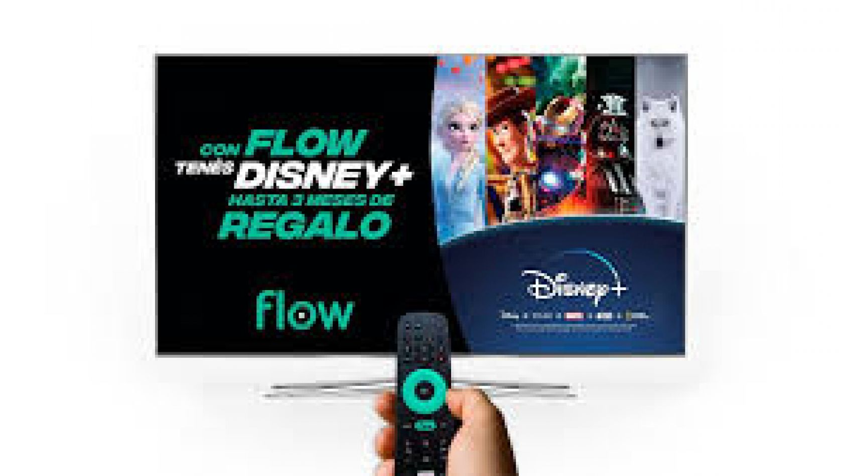 La magia de Disney + estará en Flow