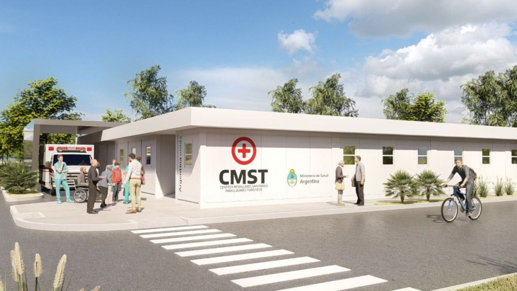 Así se verá el centro modular sanitario
