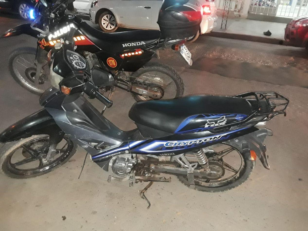 La moto secuestrada