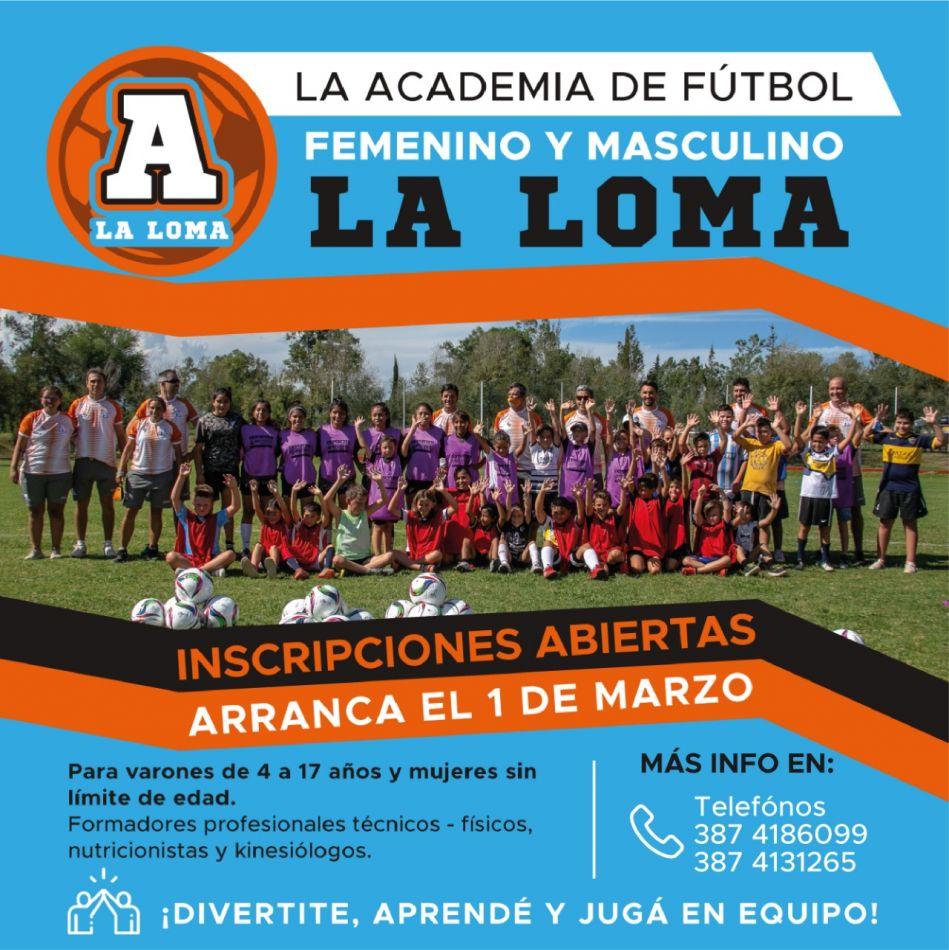 Fútbol formativo en La Loma