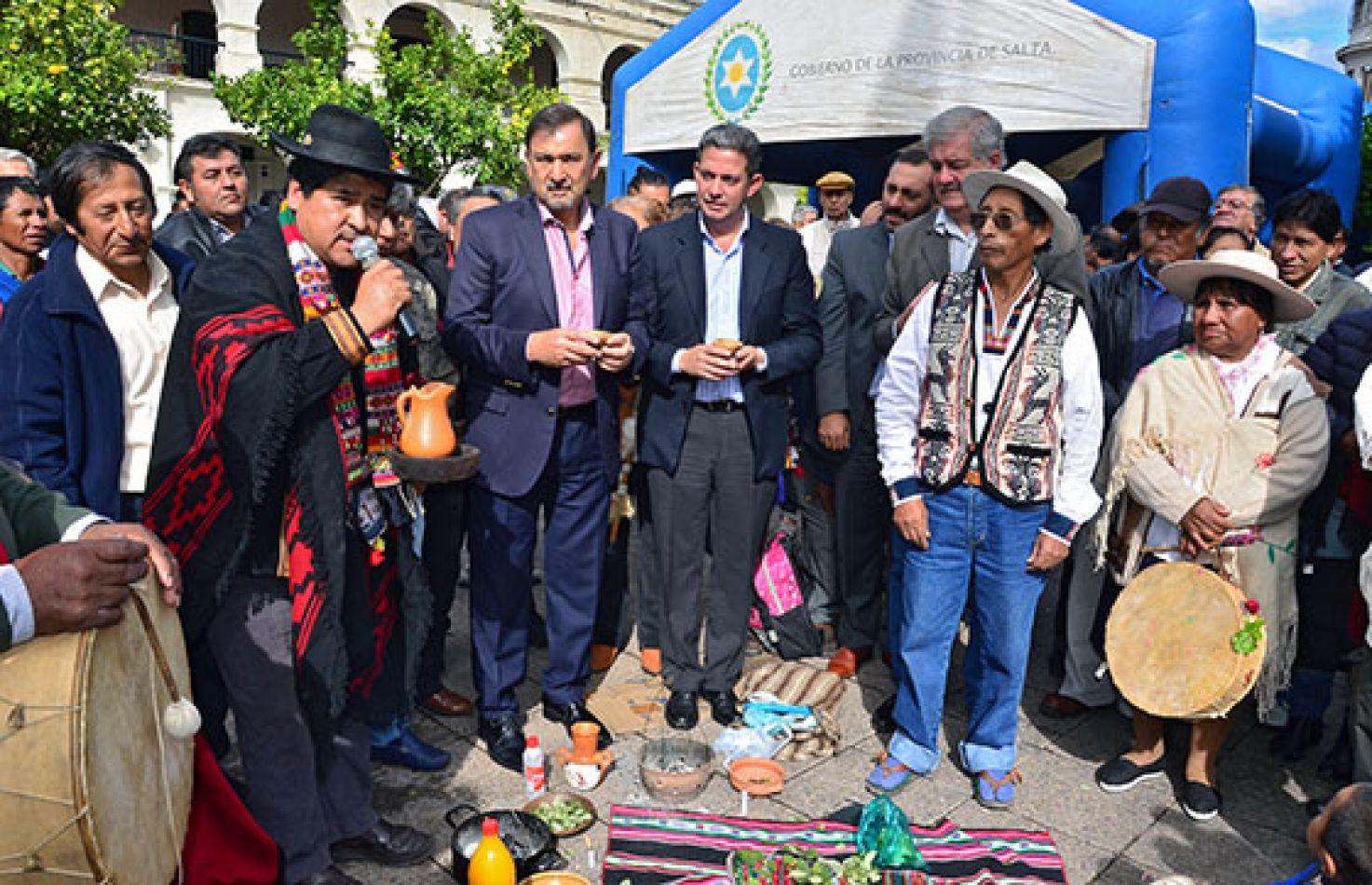 Se realizó una ceremonia en honor a la Pachamama