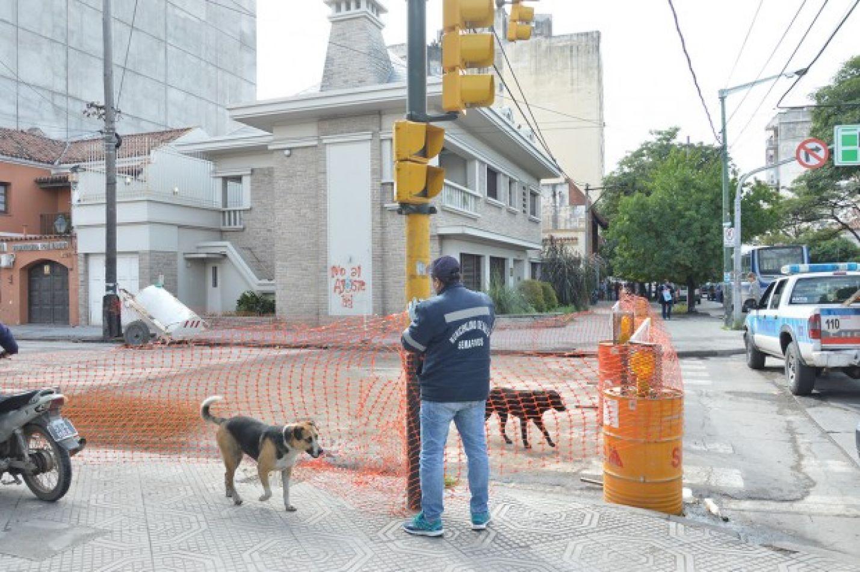 Reparación en Belgrano y Adolfo Güemes