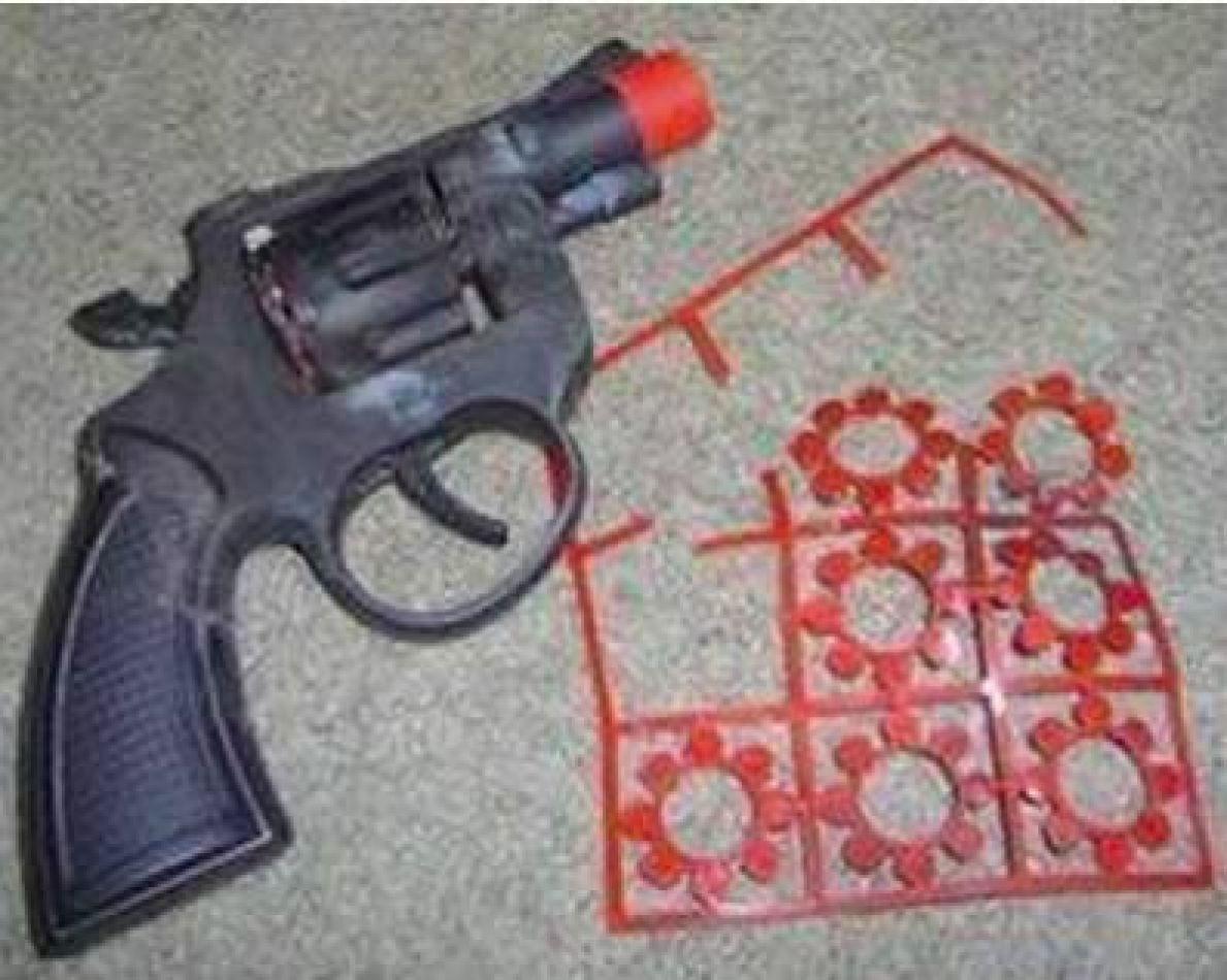 A prisión por robar con arma de juguete