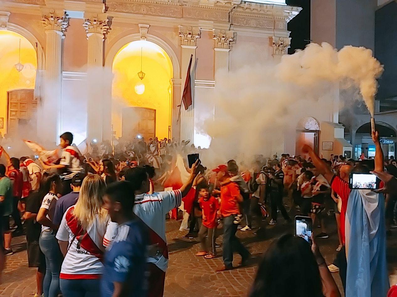 River campeón, los festejos en Salta