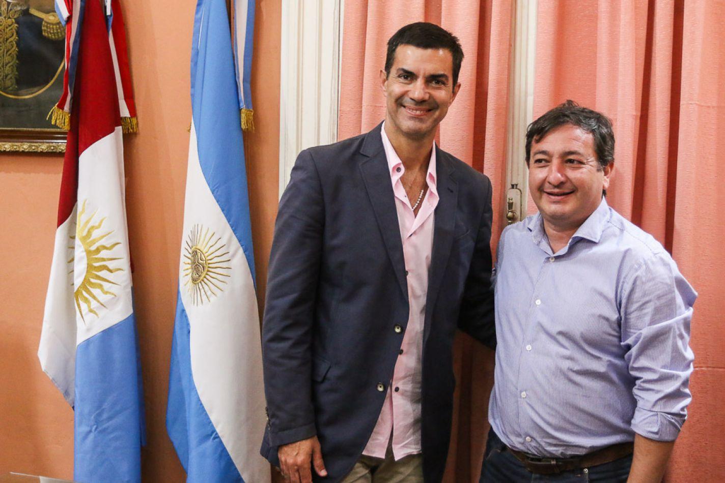 Urtubey y el intendente de Dean Funes