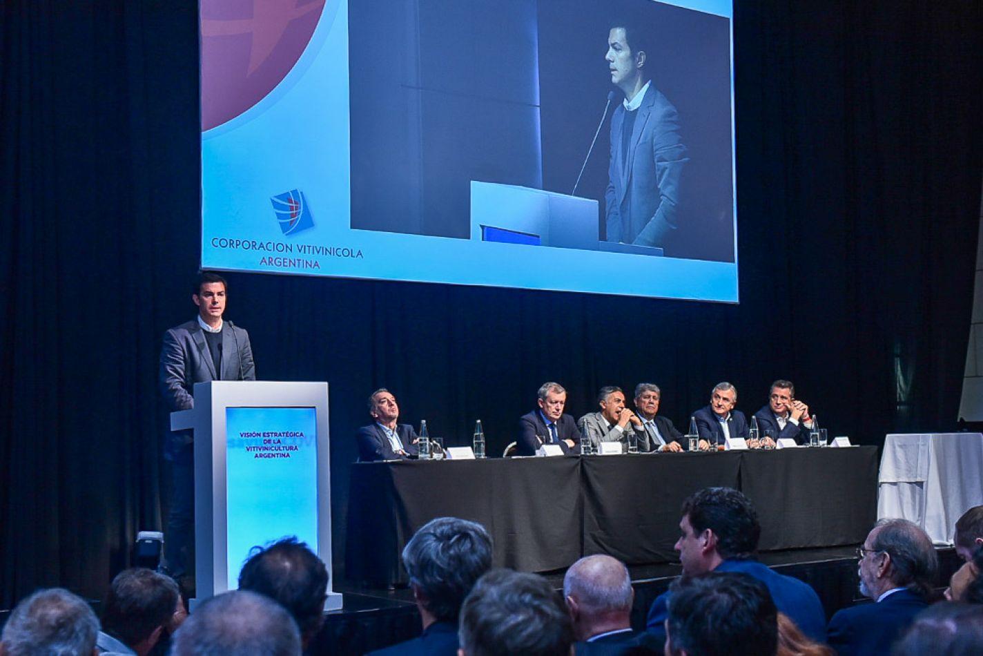 Urtubey en el evento Visión Estratégica de la Vitivinicultura Argentina