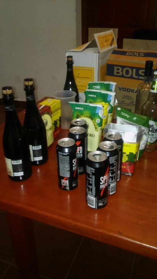 Bebidas secuestradas