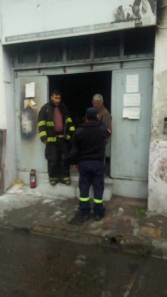 Incendio en un taller