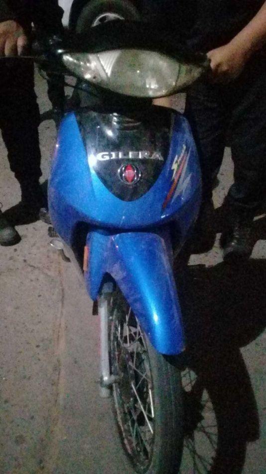 Recuperaron una moto robada